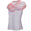 BABOLAT CAP SLEEVE PERF WOMEN T-SHIRT WHITE