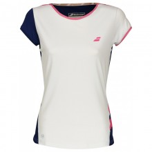 BABOLAT CAP SLEEVE PERF WOMEN WHITE BLUE 2018
