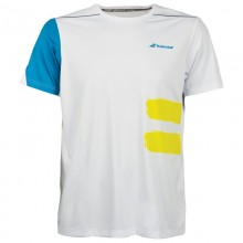 BABOLAT CREW NECK PERF T-SHIRT MEN WHITE BLUE 2018