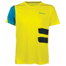 BABOLAT CREW NECK PERF T-SHIRT MEN YELLOW 2018
