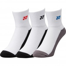 CHAUSSETTES YONEX PACK 3  19131 BLANCHES