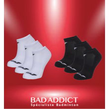 BABOLAT INVISIBLE 3 PAIR PACK BLANC/NOIR